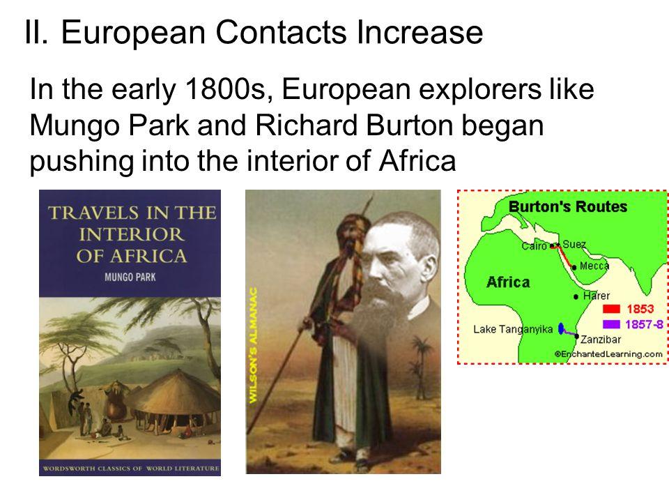 II. European Contacts Increase