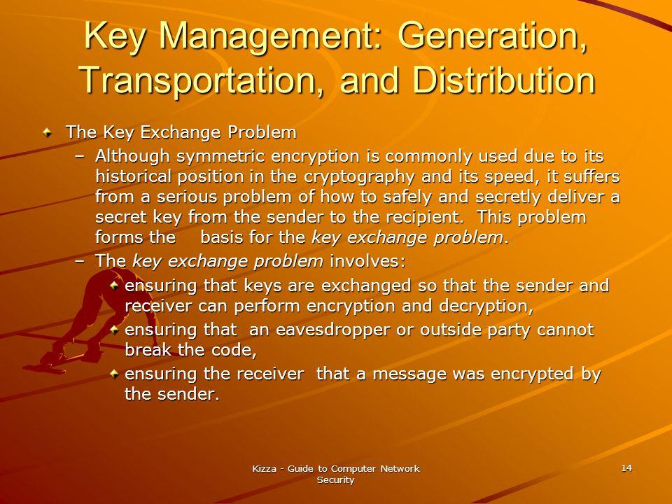 Key Management: Generation, Transportation, and Distribution