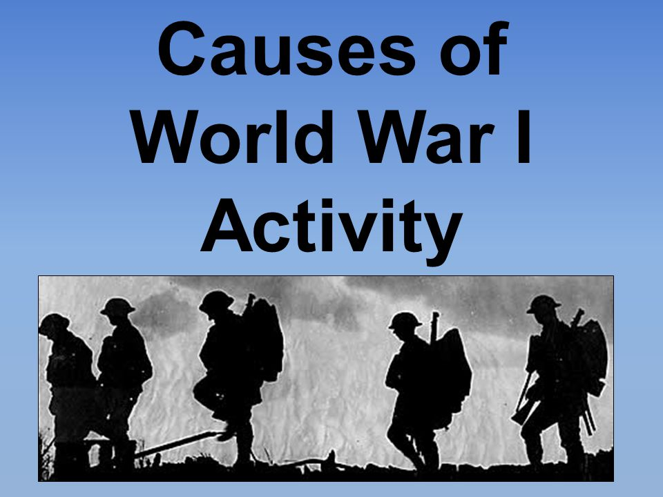 Causes of World War I Activity