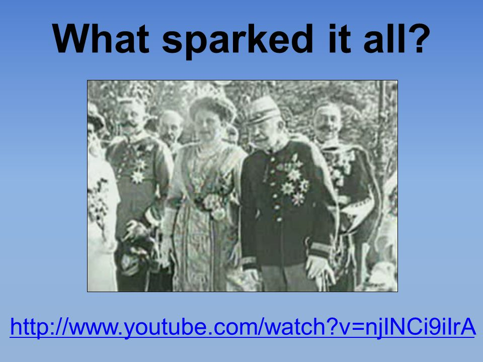 What sparked it all http://www.youtube.com/watch v=njINCi9iIrA