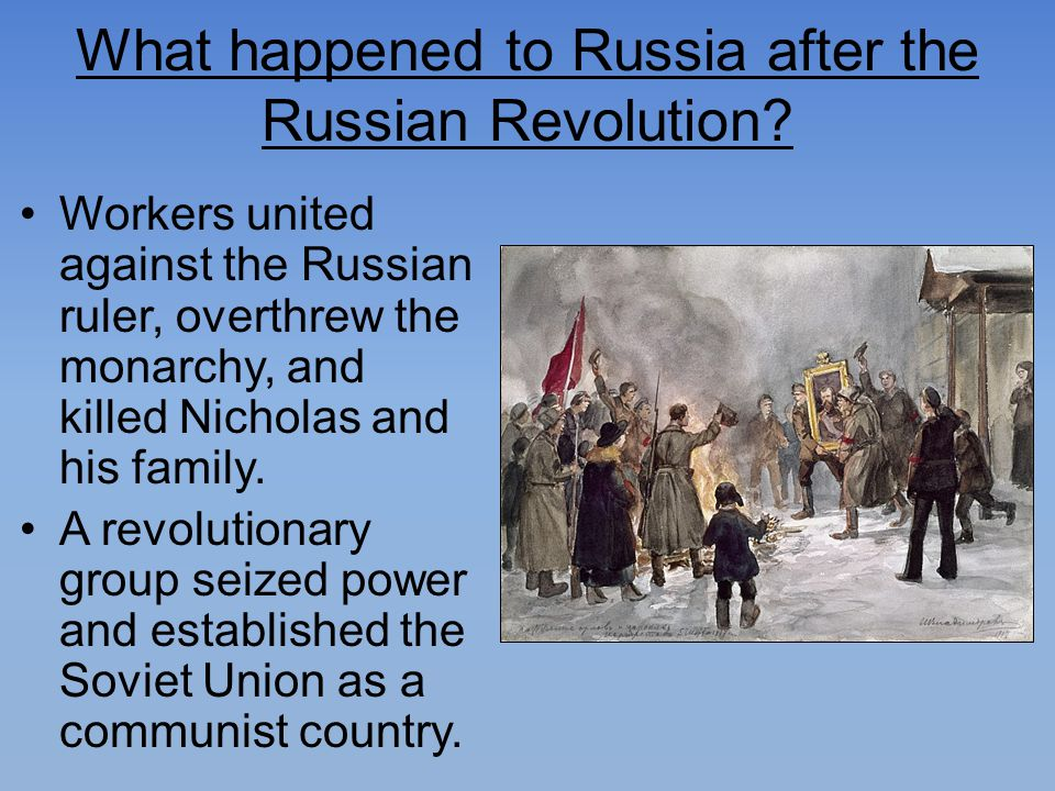 What happened to Russia after the Russian Revolution