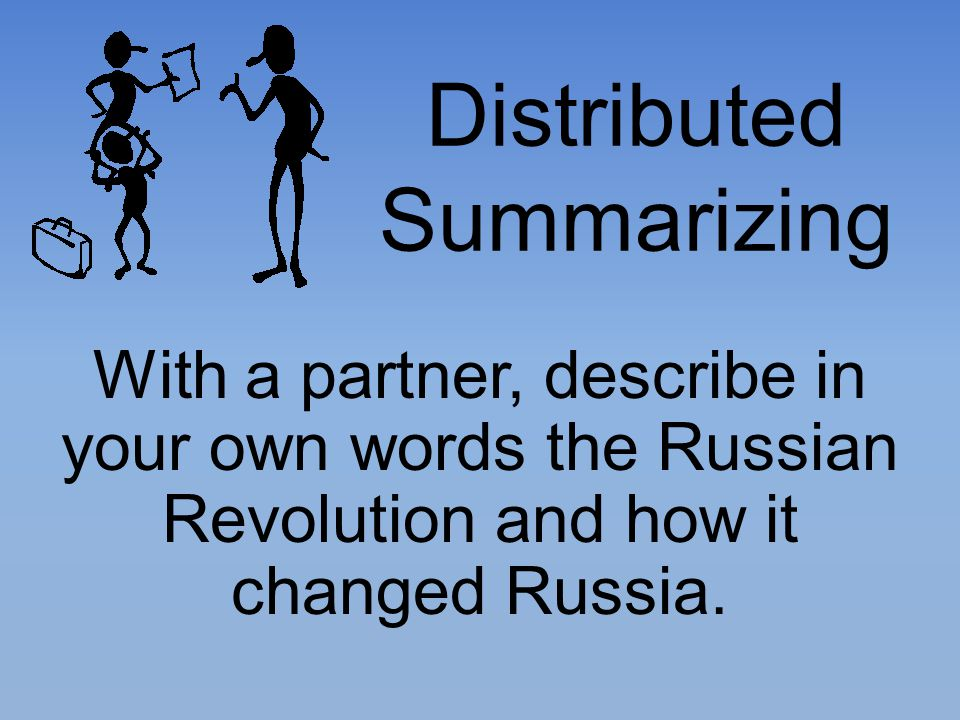 Distributed Summarizing