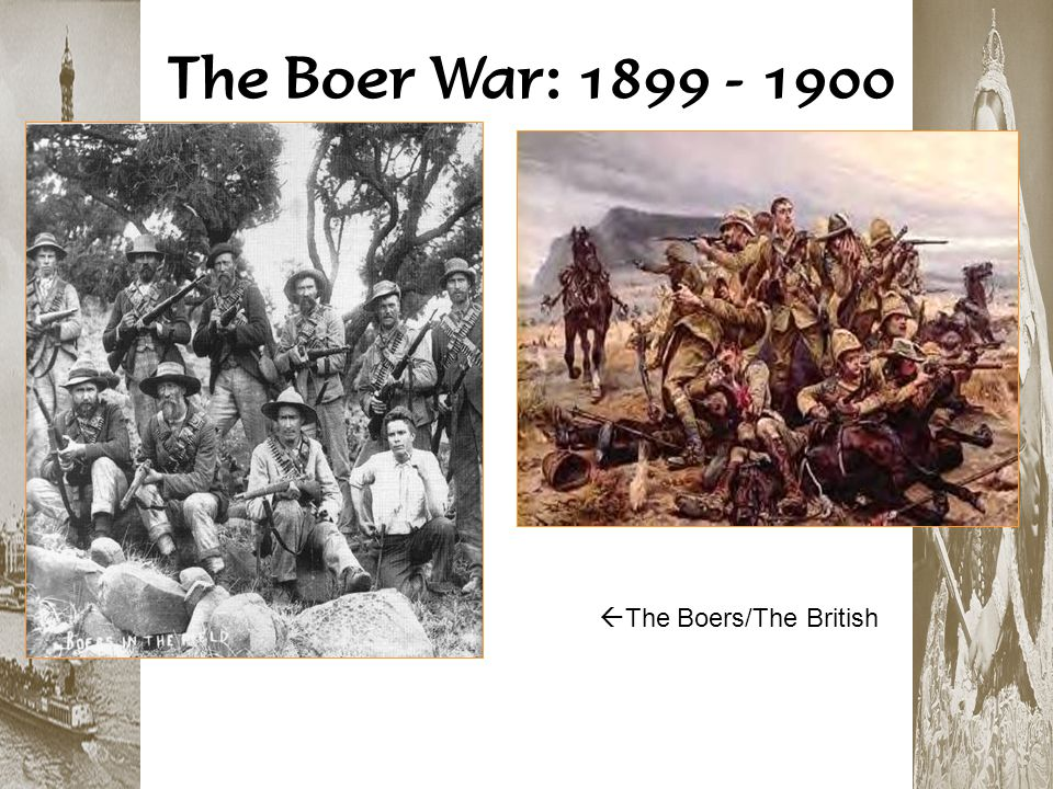 The Boer War: 1899 - 1900 The Boers/The British