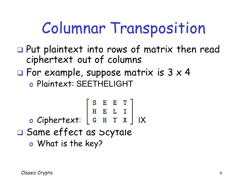 Columnar Transposition