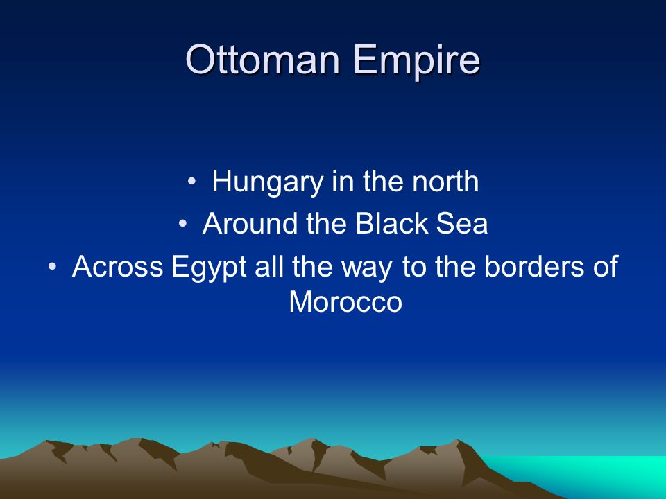 Across Egypt all the way to the borders of Morocco