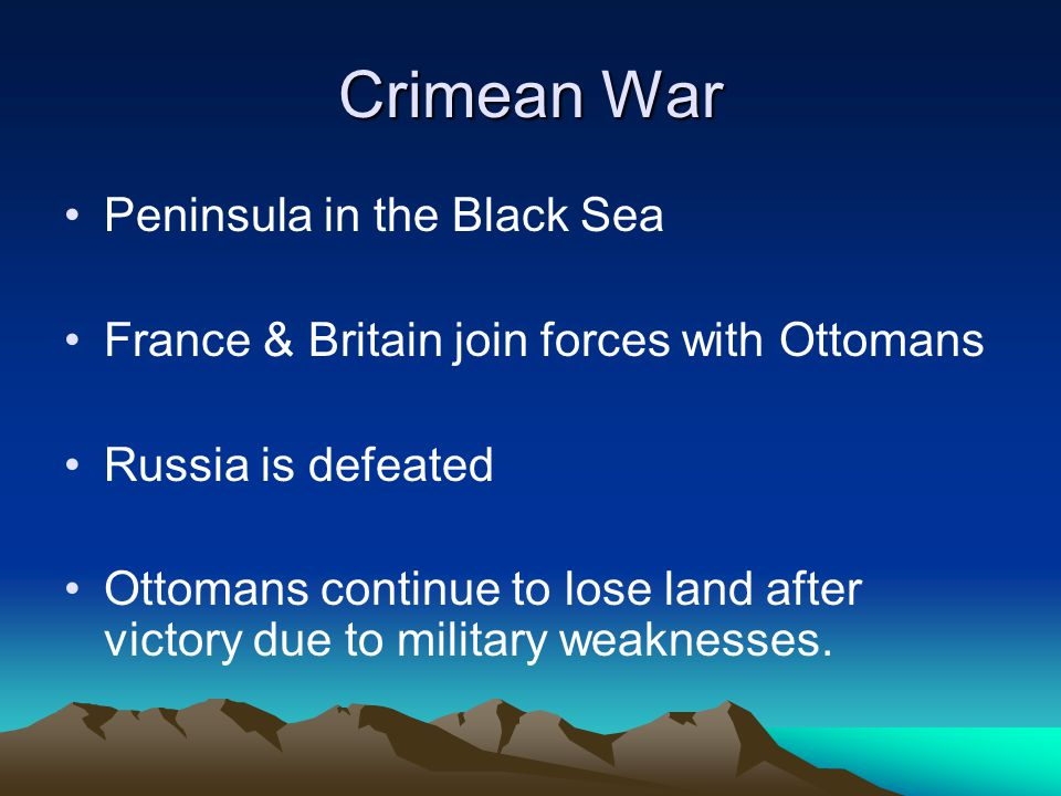 Crimean War Peninsula in the Black Sea