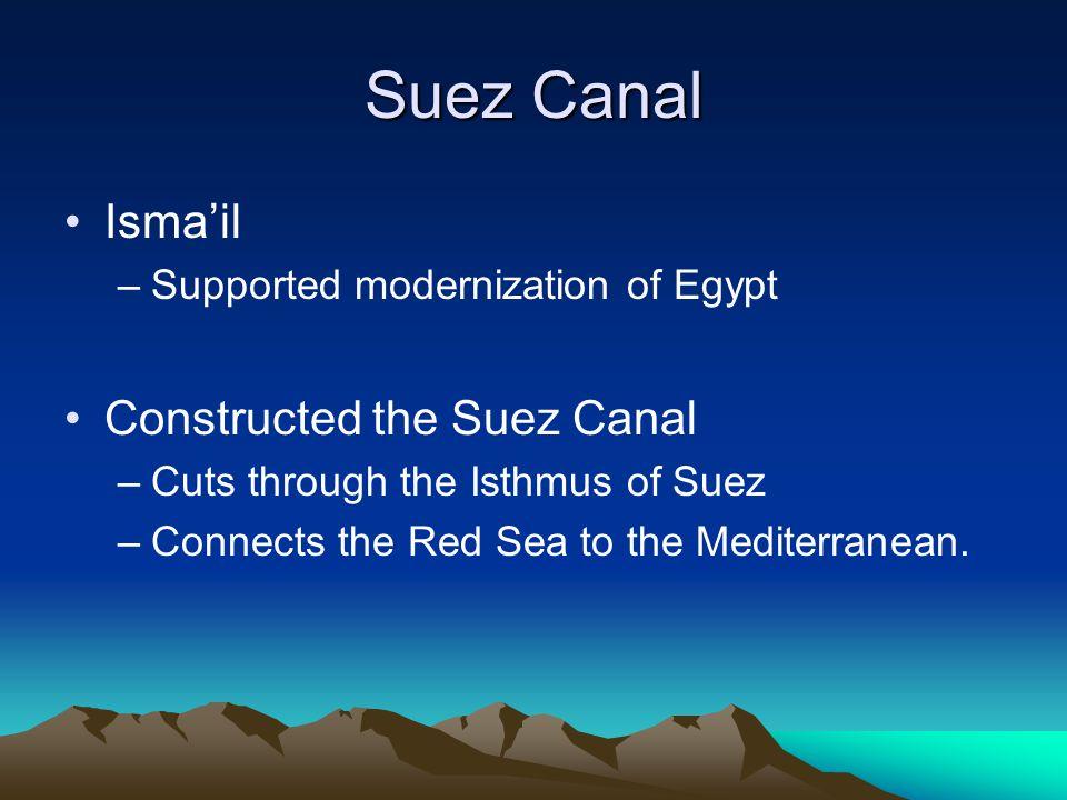 Suez Canal Isma'il Constructed the Suez Canal