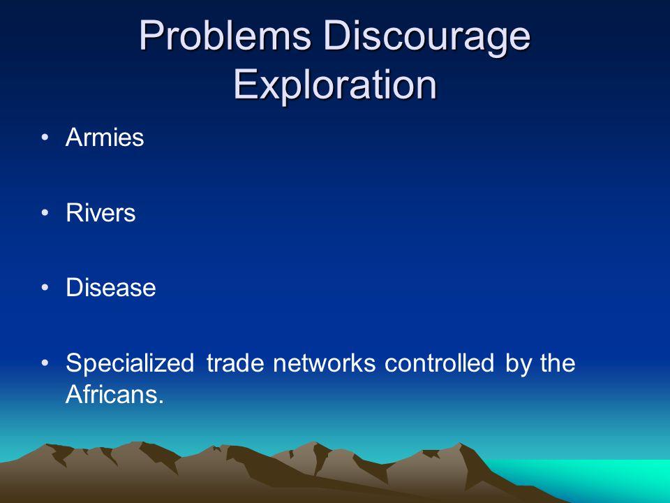 Problems Discourage Exploration