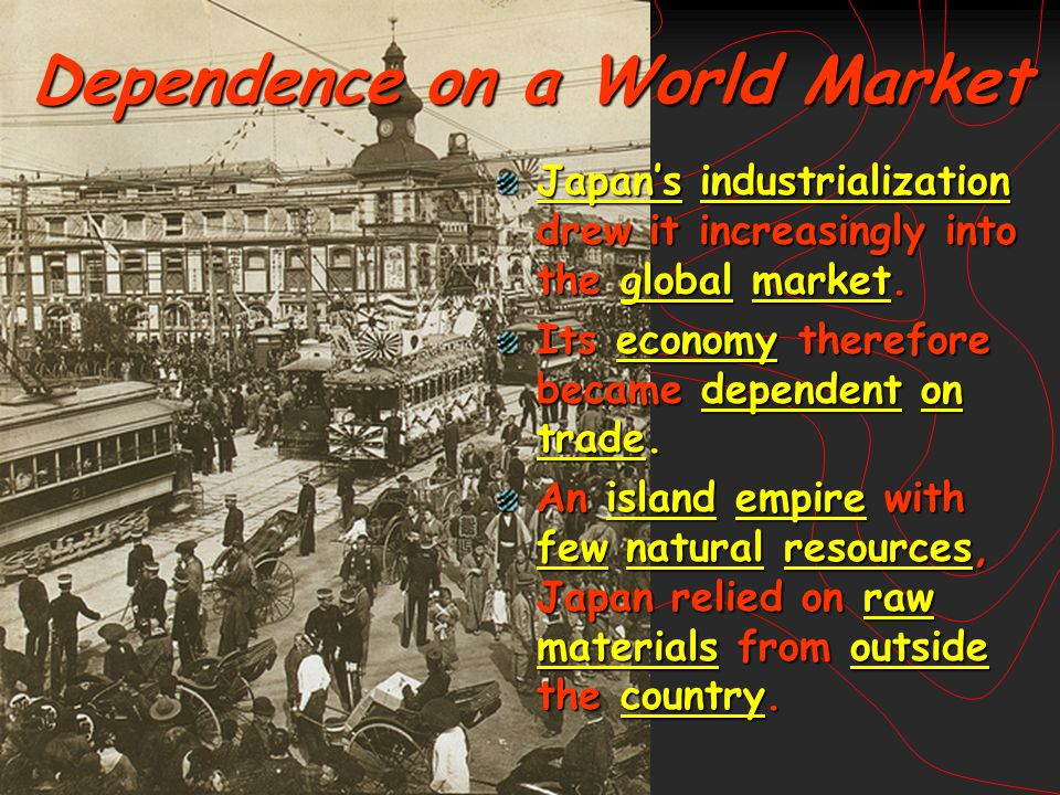 Dependence on a World Market