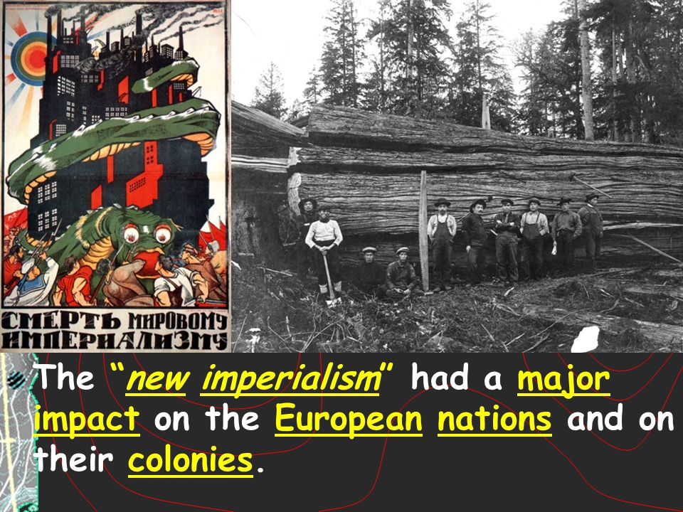 The new imperialism had a major impact on the European nations and on their colonies.