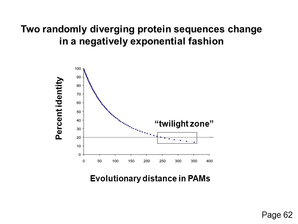 Two randomly diverging protein sequences change