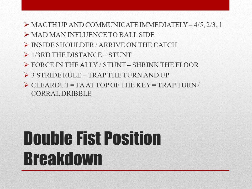 Double Fist Position Breakdown