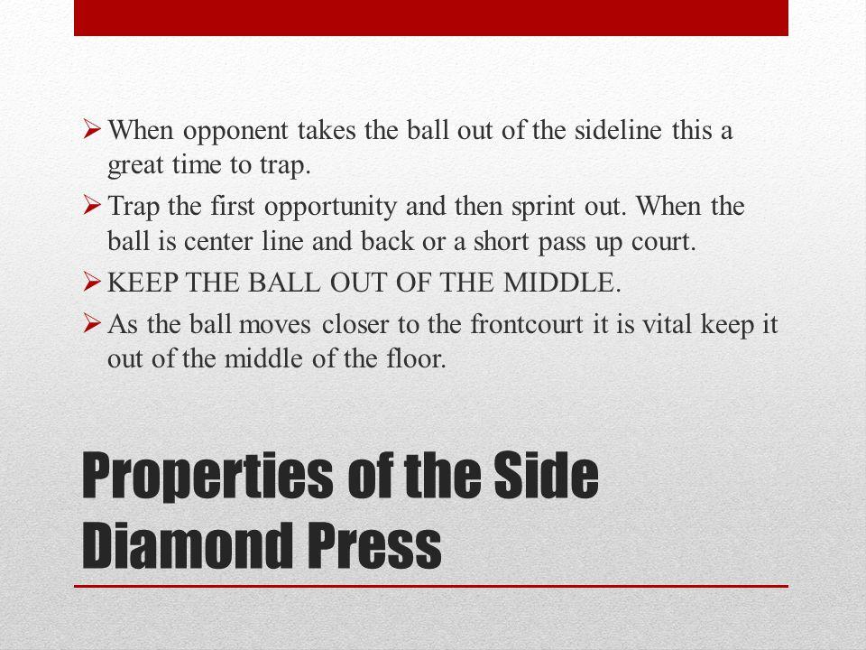 Properties of the Side Diamond Press