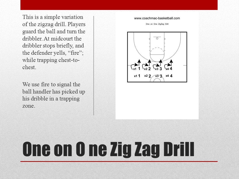 This is a simple variation of the zigzag drill