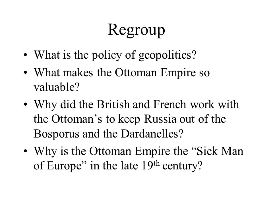 Regroup What is the policy of geopolitics