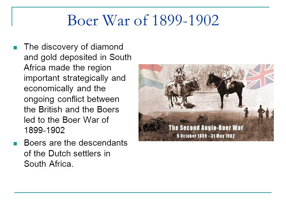 Boer War of 1899-1902