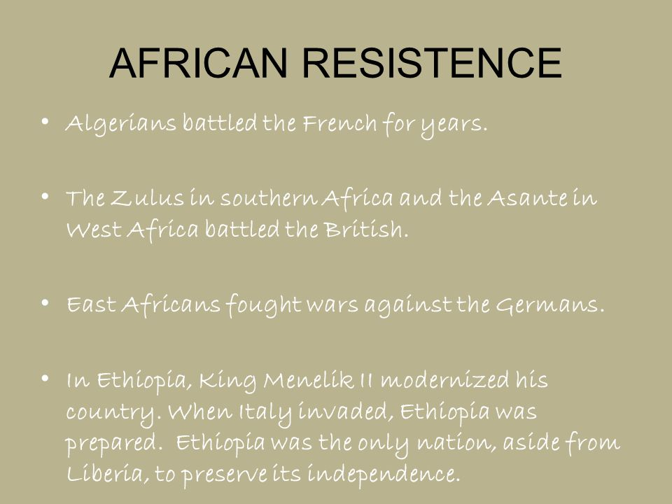 AFRICAN RESISTENCE Algerians battled the French for years.