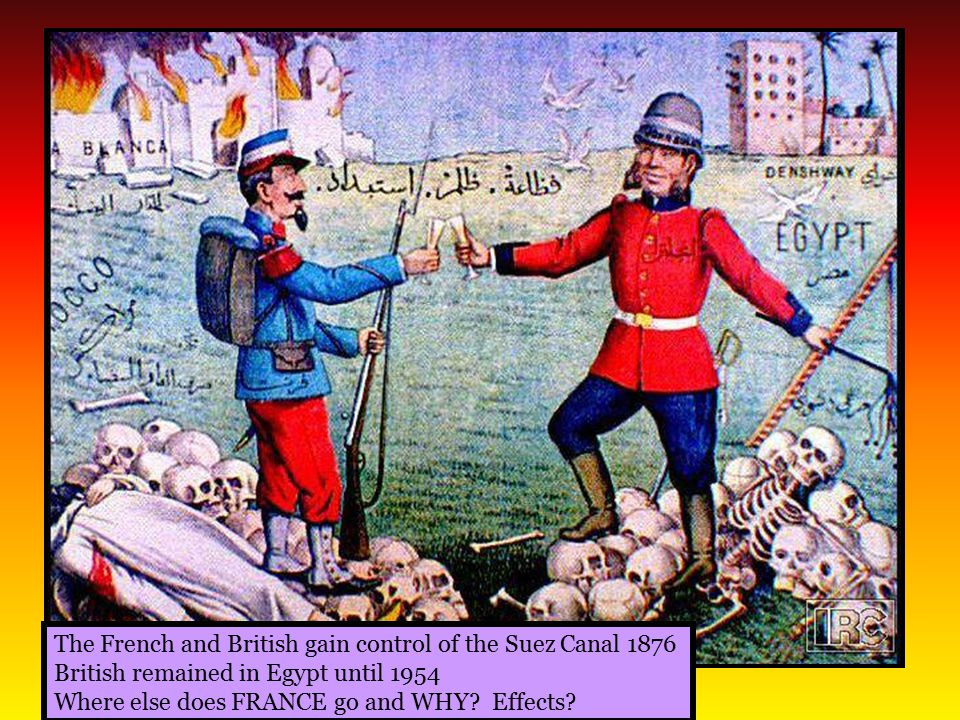 The French and British gain control of the Suez Canal 1876