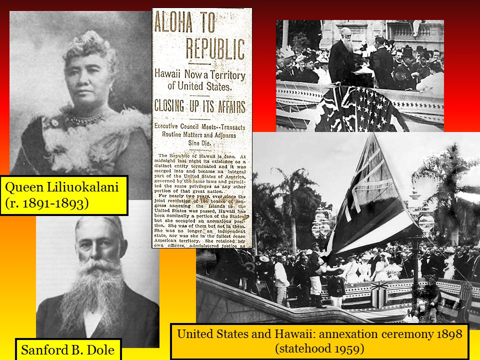 United States and Hawaii: annexation ceremony 1898
