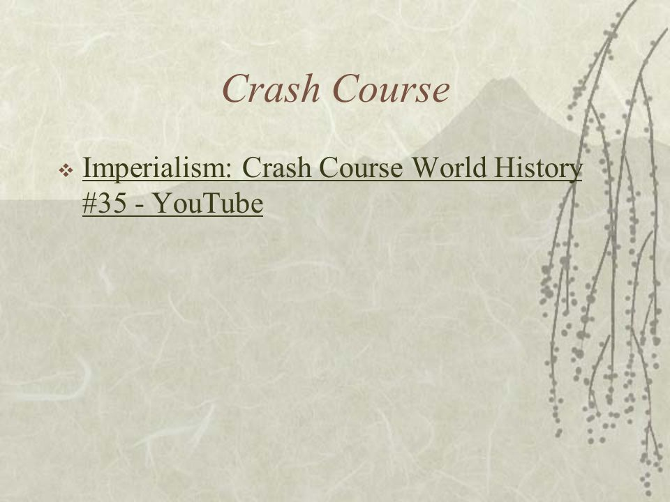Crash Course Imperialism: Crash Course World History #35 - YouTube