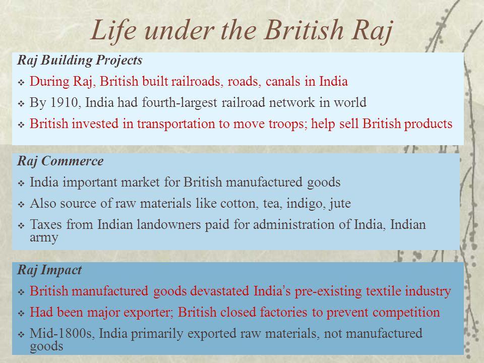 Life under the British Raj