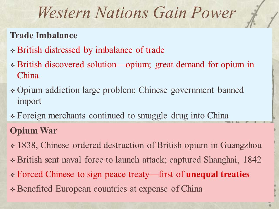 Western Nations Gain Power
