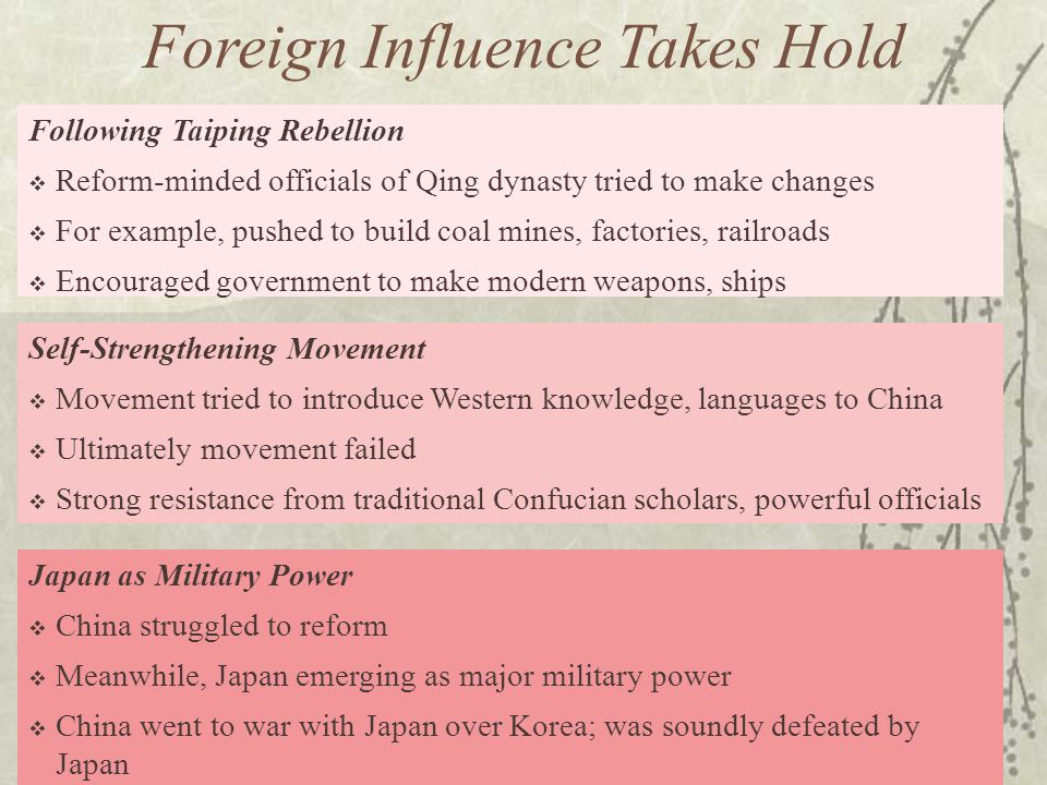 Foreign Influence Takes Hold