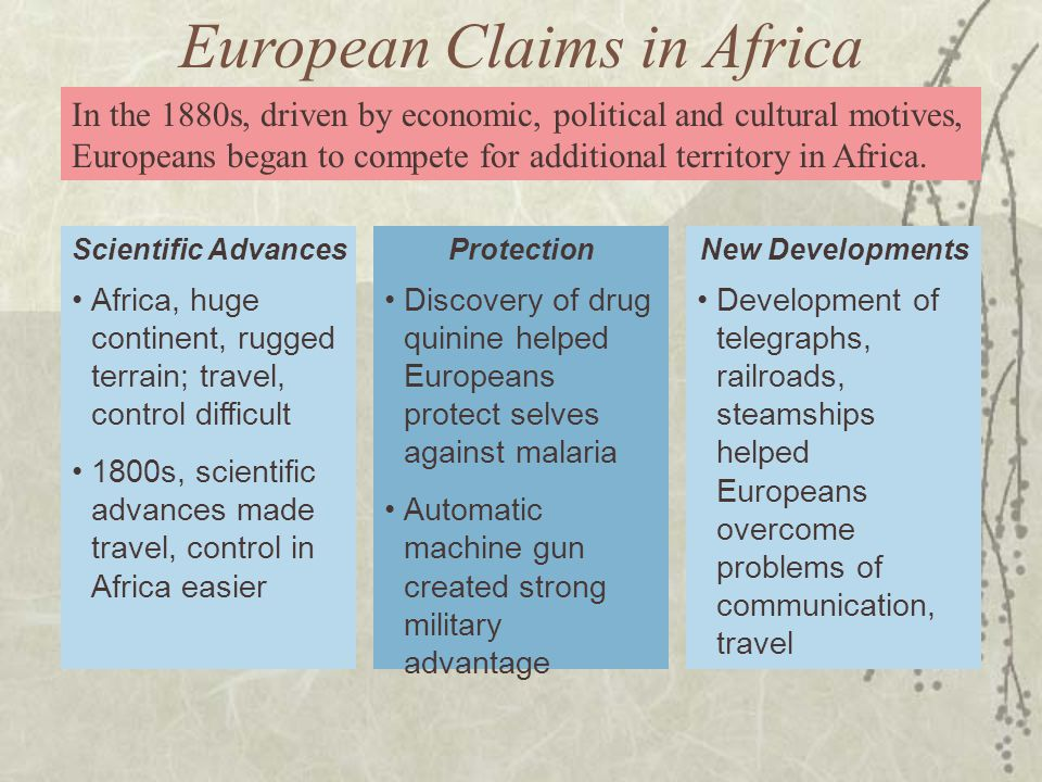 European Claims in Africa