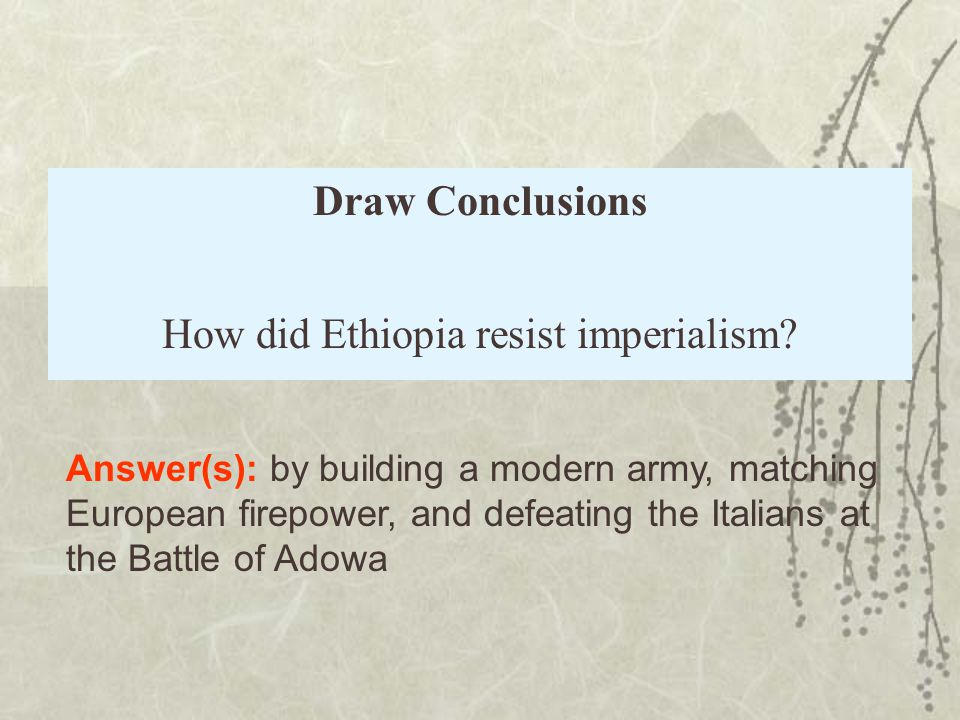 How did Ethiopia resist imperialism
