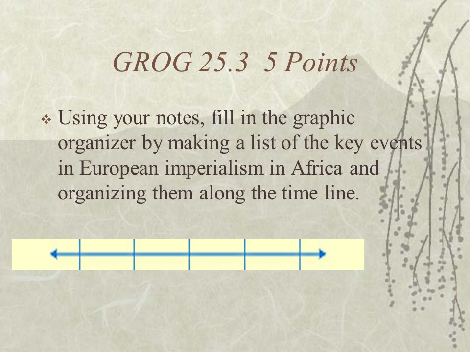 GROG 25.3 5 Points