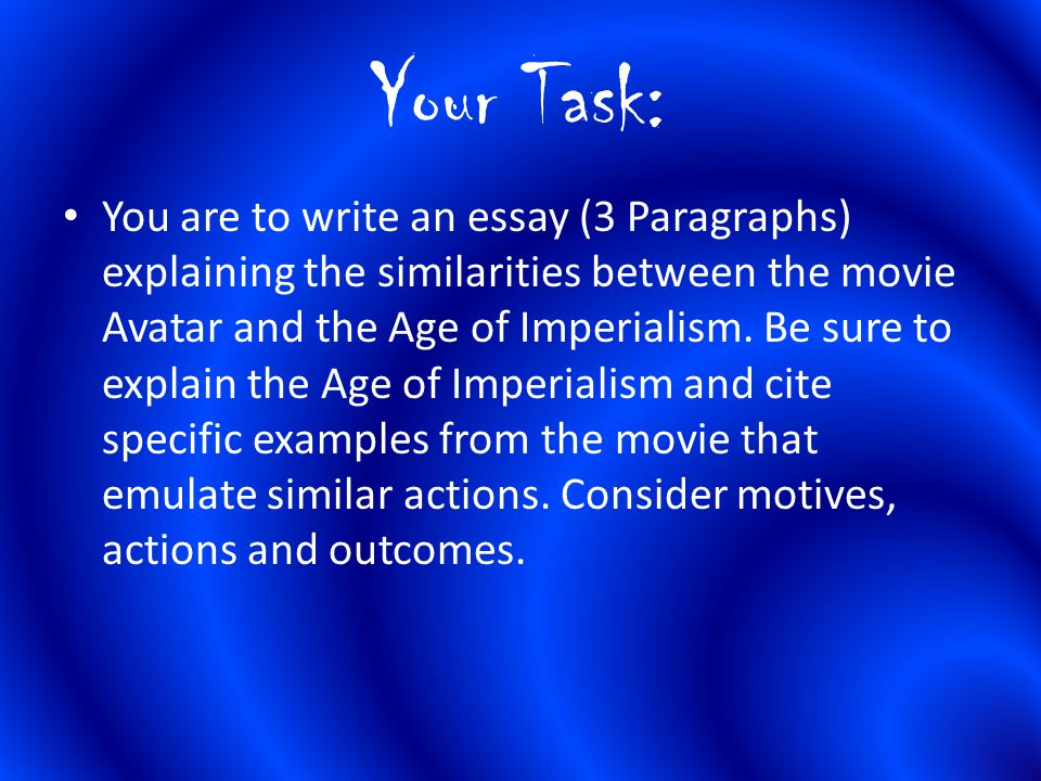 avatar and imperialism essay