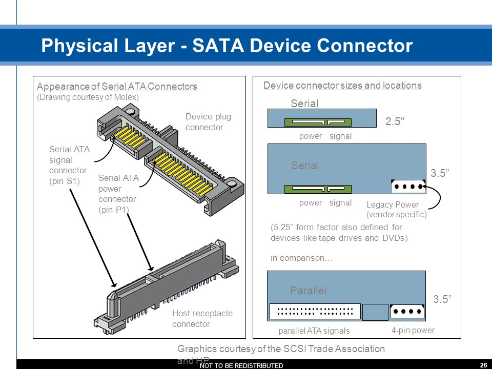 Physical Layer - SATA Device Connector