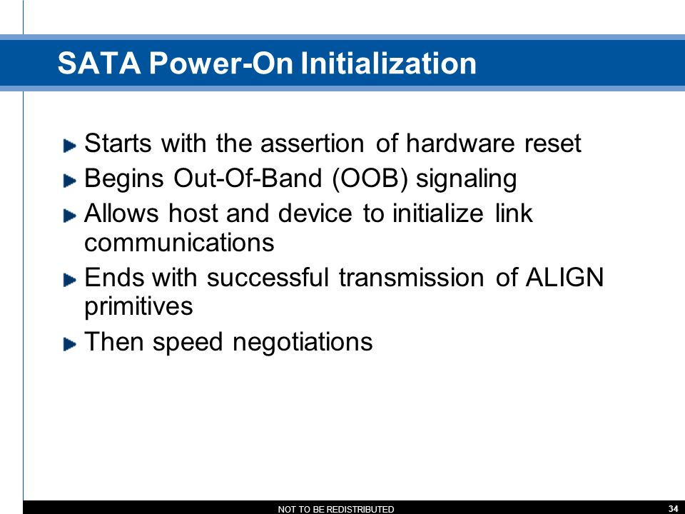 SATA Power-On Initialization
