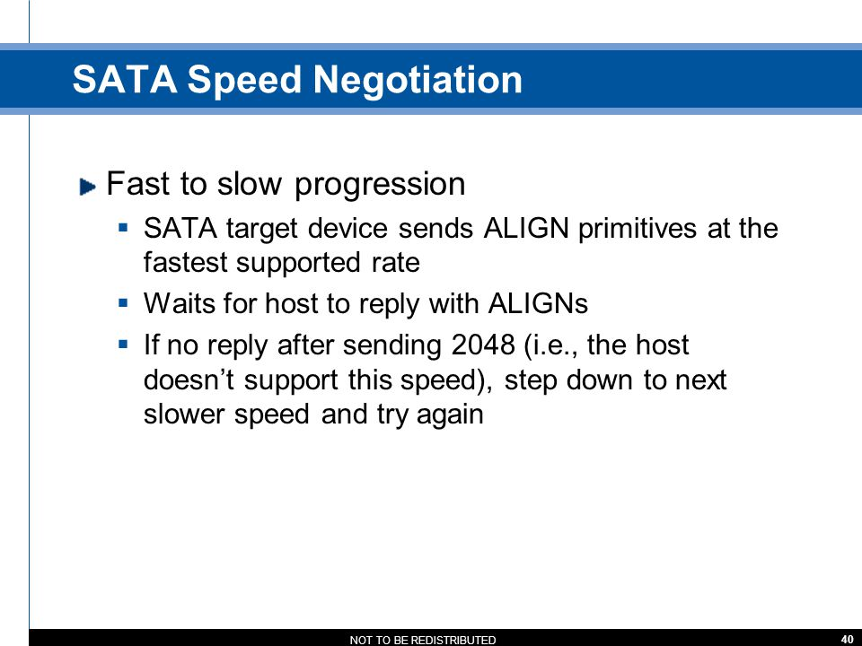 SATA Speed Negotiation
