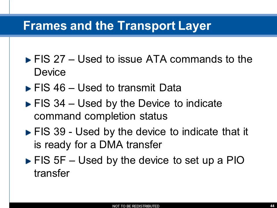 Frames and the Transport Layer