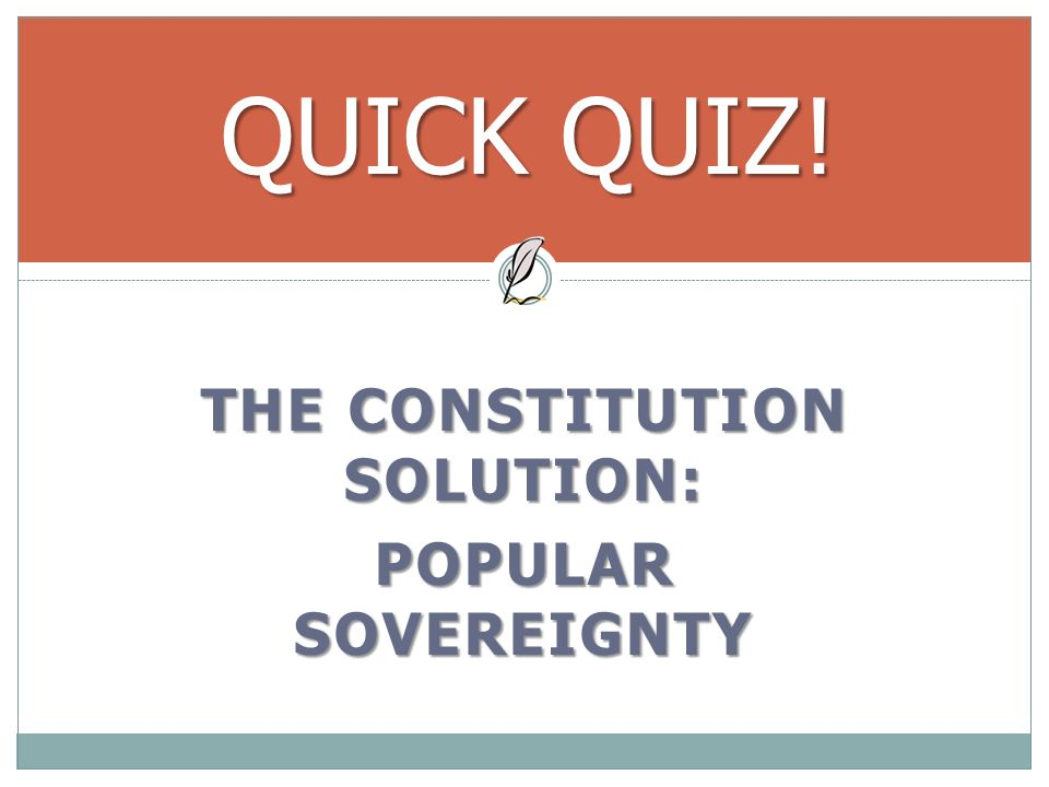 the constitution solution: