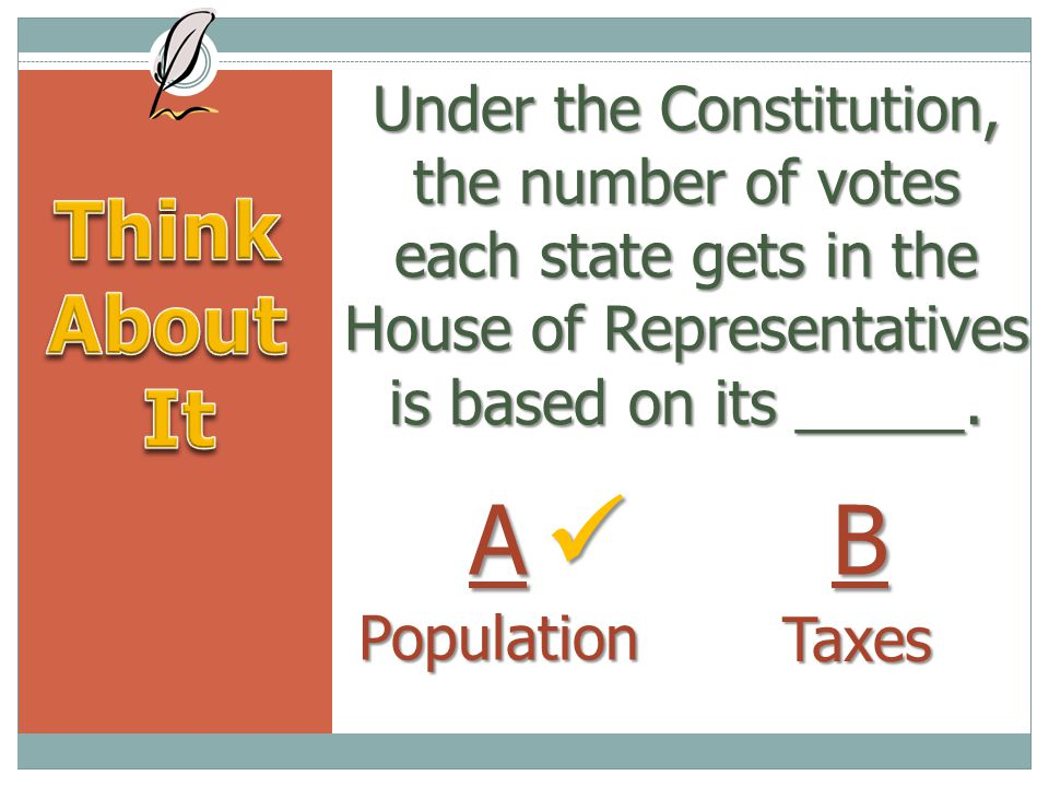 Under the Constitution, the number of votes each state gets in the House of Representatives is based on its _____.