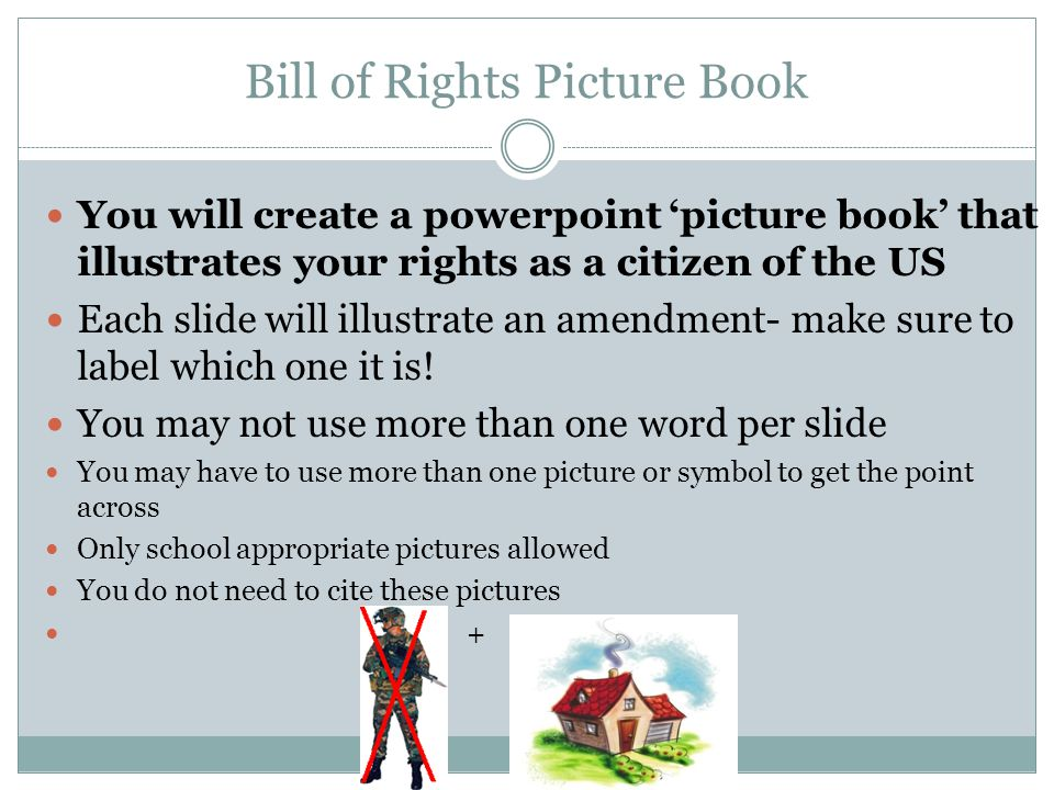 Bill of Rights Picture Book