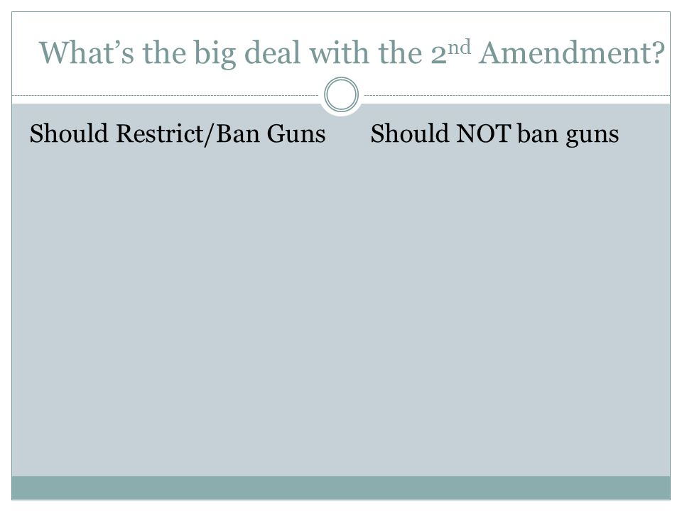 What's the big deal with the 2nd Amendment