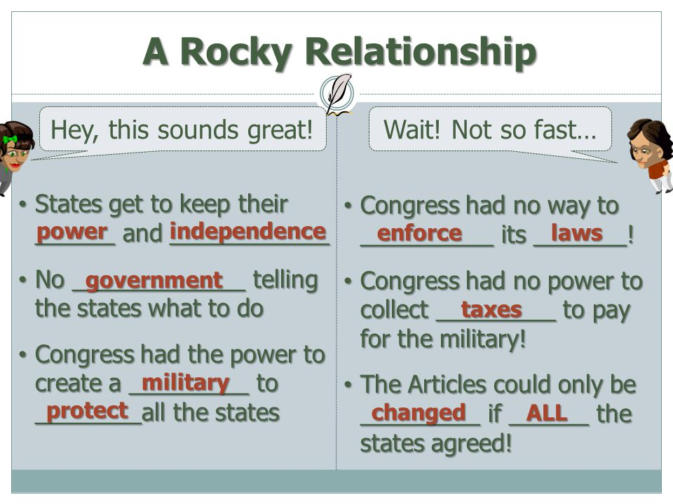 A Rocky Relationship Hey, this sounds great! Wait! Not so fast…
