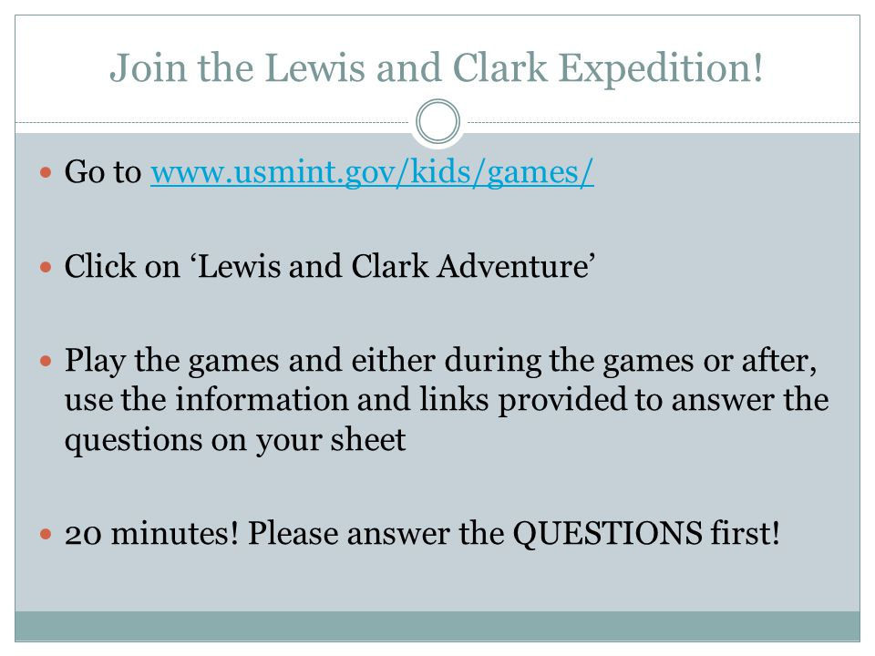 Join the Lewis and Clark Expedition!