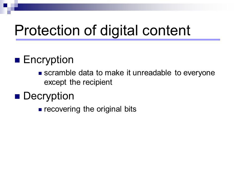 Protection of digital content