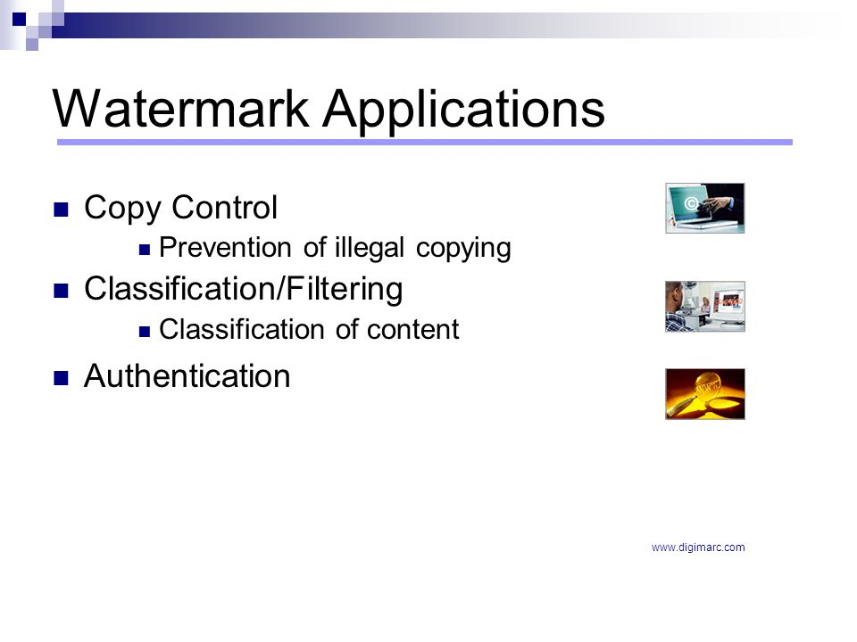 Watermark Applications