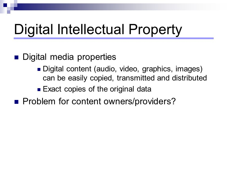 Digital Intellectual Property