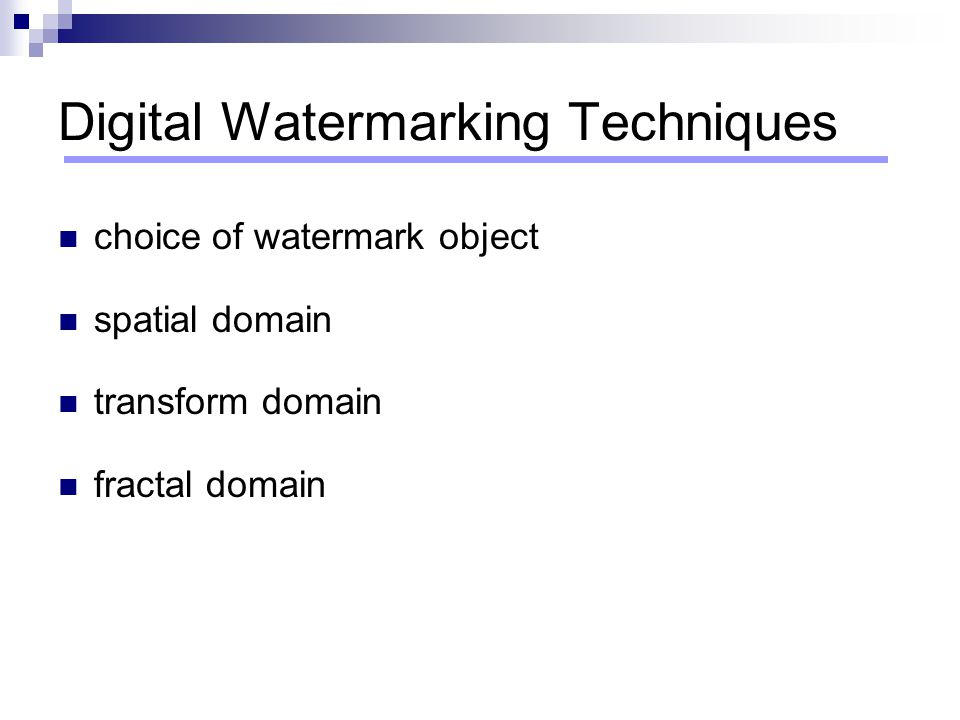 Digital Watermarking Techniques