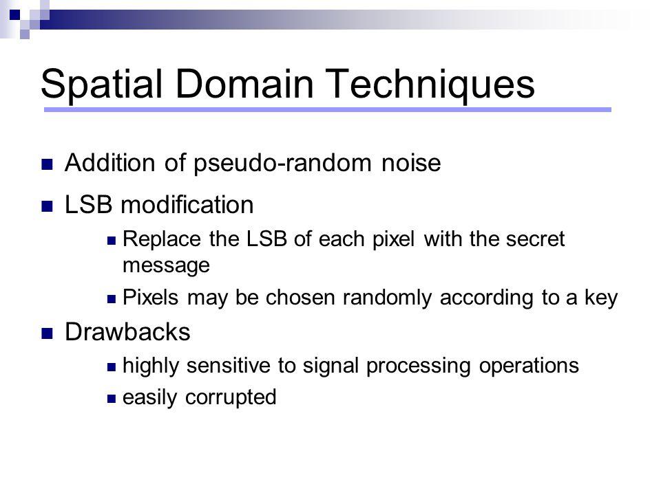 Spatial Domain Techniques