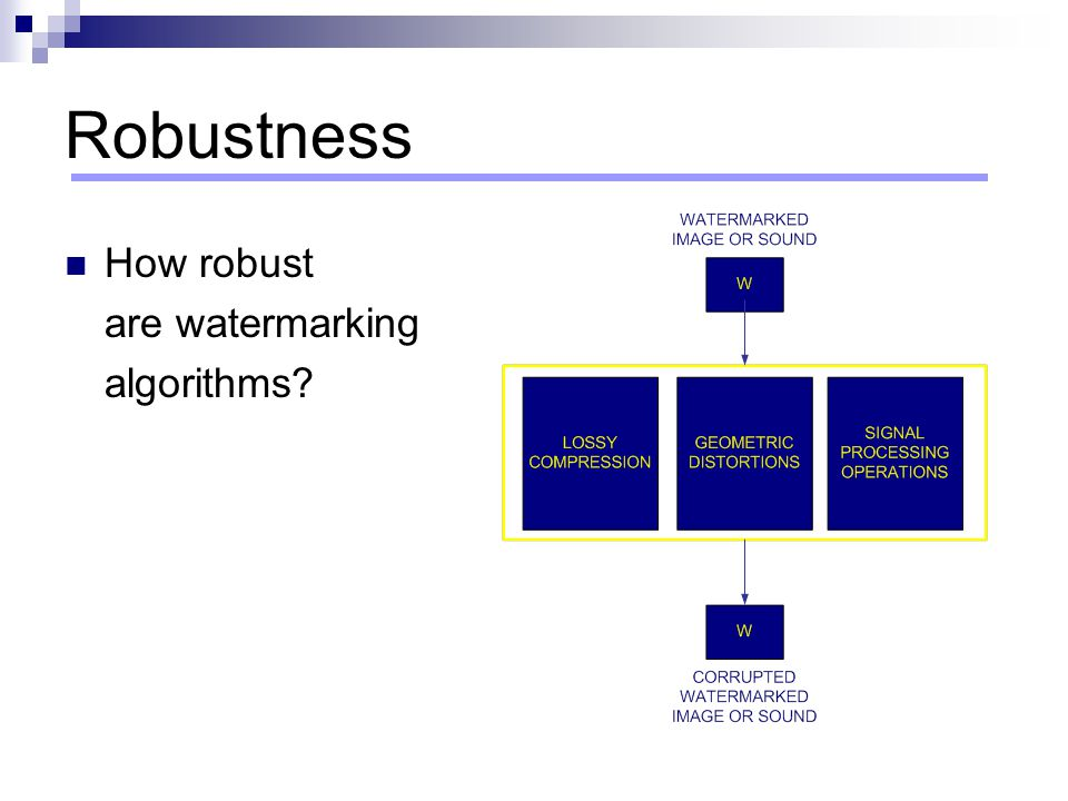 Robustness How robust are watermarking algorithms