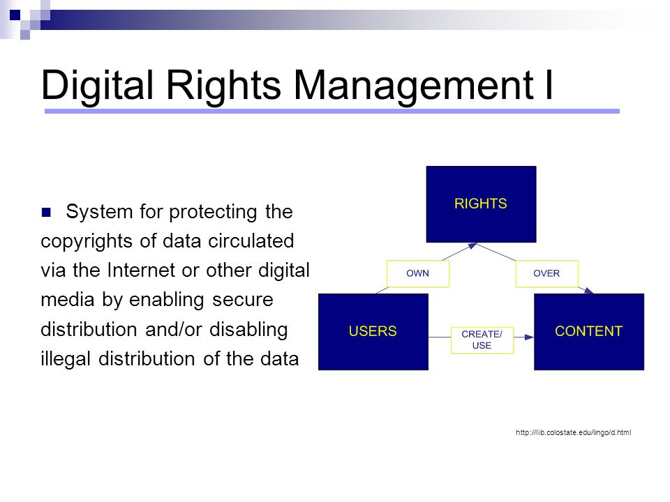 Digital Rights Management I