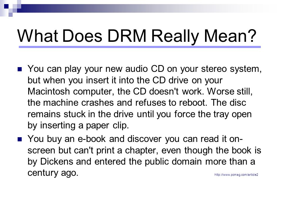 What Does DRM Really Mean