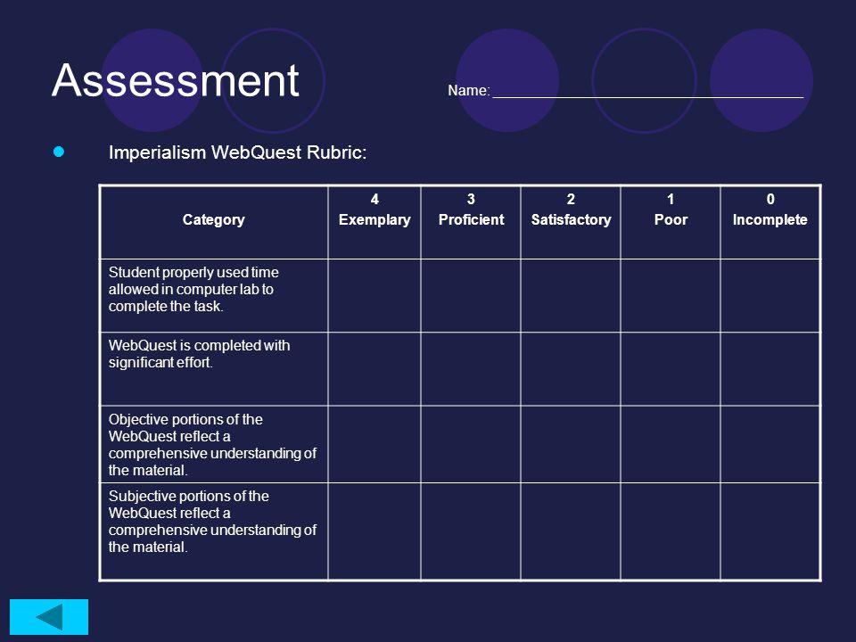 Assessment Name: _______________________________________